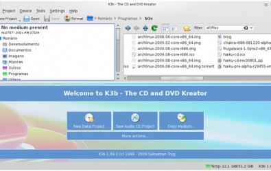 تصویری از محیط برنامه K3b