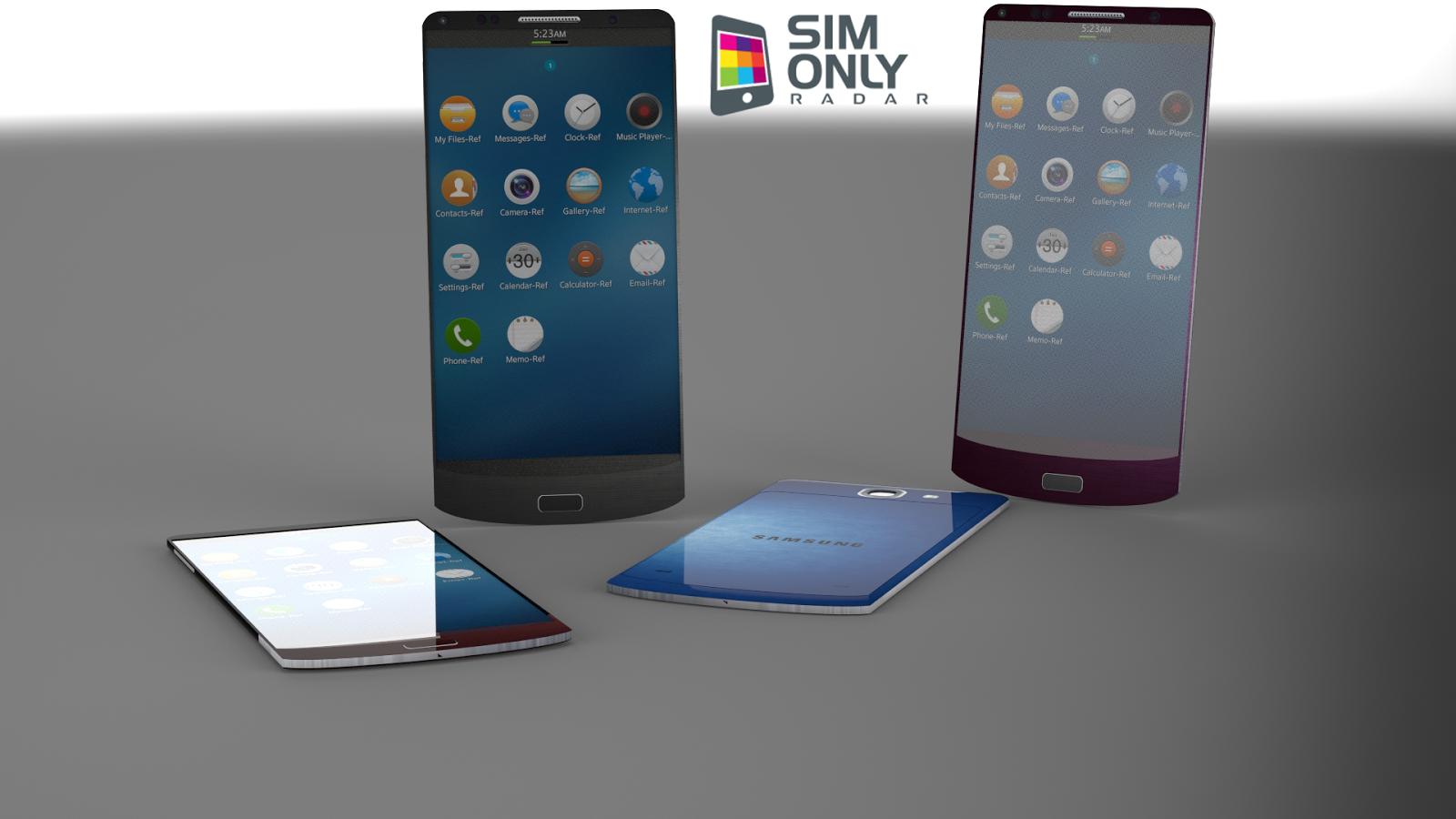 یک طراحی مفهومی از یک گوشی هوشمند با سیستمعامل تایزن